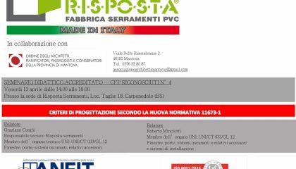 corso tenuto con gli architetti di Mantova in sede Risposta