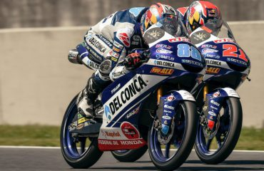 I piloti del Team Del Conca Gresini in preparazione per il prossimo GP